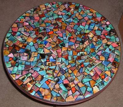 Kitchen Table on Mosaic Round Table 24